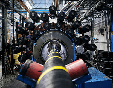 Offshore high voltage cable production at NKT facility in Karlskrona